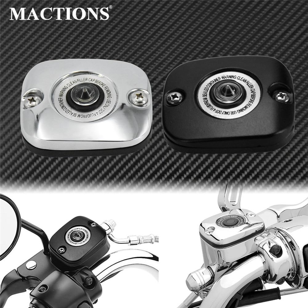 Мотоциклетный черный/Хромированный главный тормозной цилиндр для переднего колеса, чехол для Harley Sportster XL Touring Softail Dyna Fat Boy Street Bob FXDB