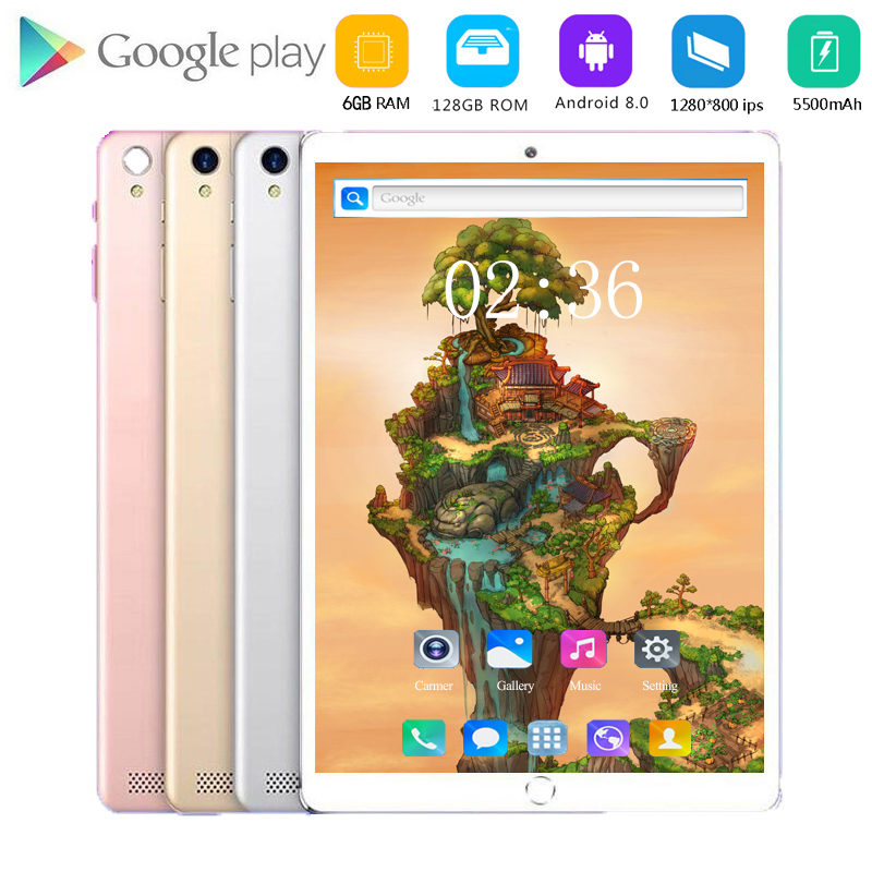 6GB+128GB 3G/4g LET Tablet PC 10.1 Inch Android 8.0 Smartphone Octa Core Dual SIM Card Android  WiFi 10 Tablets For Kids Gift