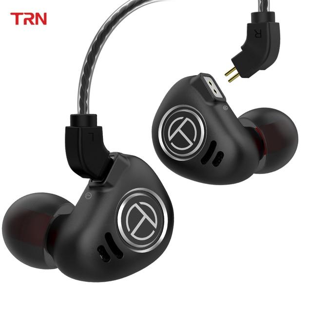 TRN V90 4BA + 1DD hibrid 5 sürücü üniteleri Metal kulak kulaklık IEM HIFI monitör koşu spor sahne çözünürlüğü 2Pin ayrılabilir V80