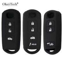 OkeyTech Silicone Car Key Cover Remote Case For MAZDA 2 3 5 6 CX-3 CX-5 CX-7 CX-9 Speed Miata MX5 Shell Protector 2/3/4Button