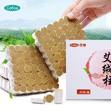 Cofoe 49 шт. конус для мокса-терапии бездымный чистая мокса в рулонах 3 года мокса палочка для китайской акупунктуры Отопление Массаж прижигание терапия