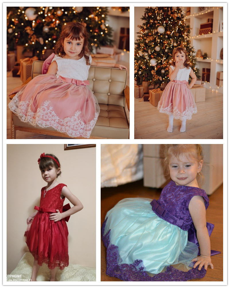 Kids Dress for Girls Summer Dresses for Party and Wedding Christmas Clothing Princess Flower Tutu Dress Children Prom Ball Gown 2