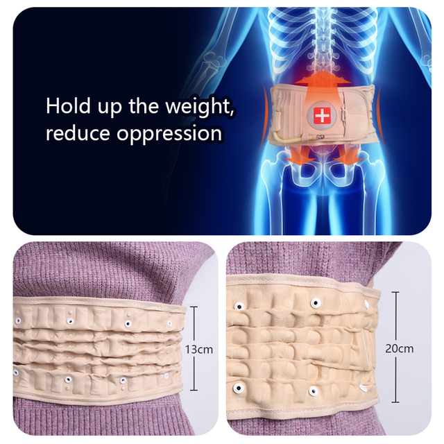 Physical Lumbar Decompression Back Belt Back Support & Lumbar Traction Belt Spinal Air Traction Belt for Lower Back Pain Relief 1