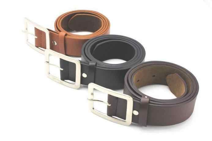Acessórios de roupas cinto de couro falso fivela de homens cinto 108cm de liga longa quadrado elástico cinto de cinta de cintura para jeans presente aniversário