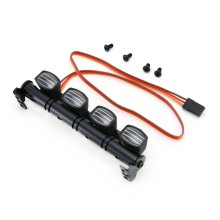 Roof Luggage LED Light Bar Kit for 1/10 Scale Rock Crawler Truck Traxxas Trx-4 TRX4 Axial SCX10 RC4WD D90 HSP RGT injora roof rack luggage carrier controllable light bar for 1 10 rc crawler rc4wd d90 land rover axial scx10 jeep scx10 ii 90046