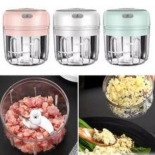 Broyeur de viande électrique, 100/250ml, ail et légumes, Mini hachoir à chargement USB, viande hachée, outils de cuisine