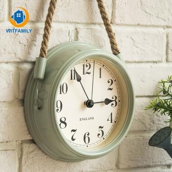 Living Room Wrought Iron Metal Clocks Nordic Modern Minimalist Clocks Creative Wall Clock Quartz Clock Personality