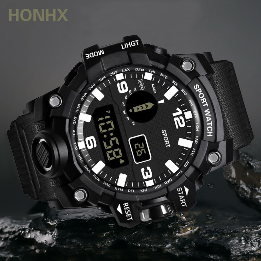 H7ac9c421e21741aab93800e34e40b705b HONHX Casual Sport Luxury Mens Digital LED Watch Date Sport Men Outdoor Electronic Watchelogio digital New Fashion Wristwatch #D