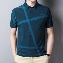Ymwmhu-Camiseta holgada a rayas para hombre, Polo informal, ropa de calle, Top de marca, novedad de 2021
