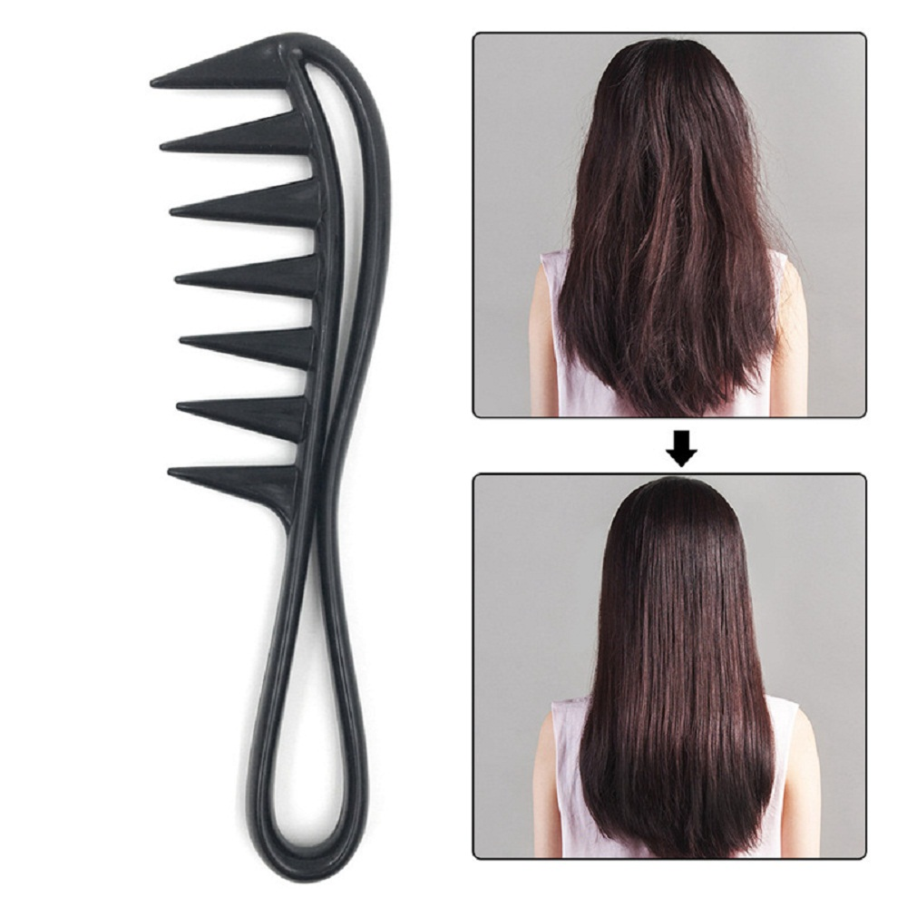 New Arrival Wide Tooth Plastic Comb Curly Hair Salon Comb Massage Comb Anti-static Hair Styling Tool Free Shipping