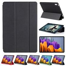 Para 2020 samsung galaxy tab s7 caso 11 polegada s7 + 12.4 polegada tablet caso capa magnética com suporte de lápis t870 t875 t970 t975