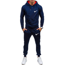 New Store Promotion 2019 Brand Solid Color Multi-code Fashion Casual Hoodie Outdoor Sports Home Mens Suit Multi-color Optional