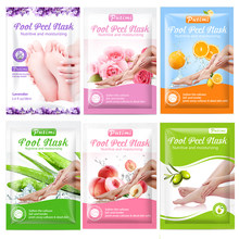 PUTIMI 6Packs Whitening Exfoliating Foot Mask Remove Dead Skin Foot Peeling Mask for Legs Pedicure Socks Moisture Foot Patch