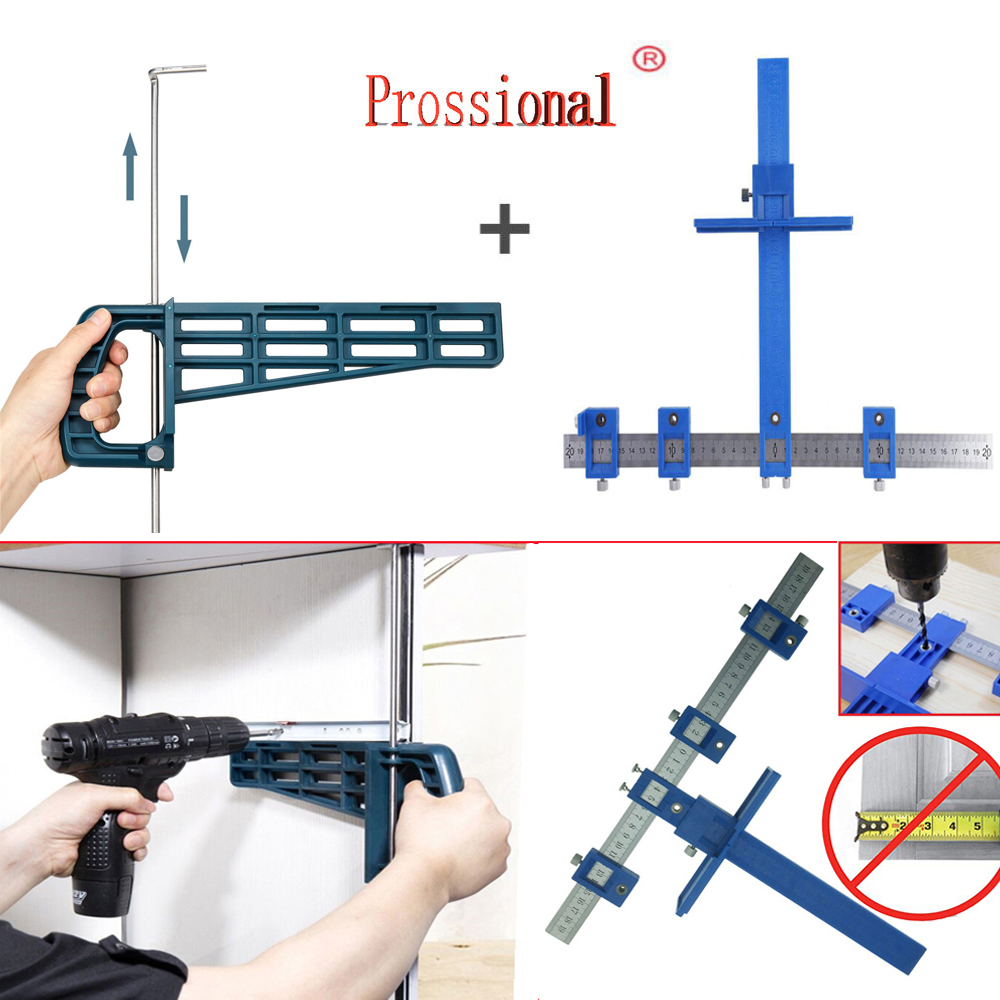 New Magnetic Drawer Slide Jig Set Mounting Tool For Cabinet Furniture Extension Cupboard Hardware Install Guide