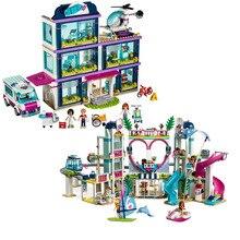 Nieuwe 1039 Pcs Vrienden Meisje Serie 41318 41347 Bouwstenen Speelgoed Heartlake Ziekenhuis En Stad Kinderen Bricks Speelgoed Geschenken