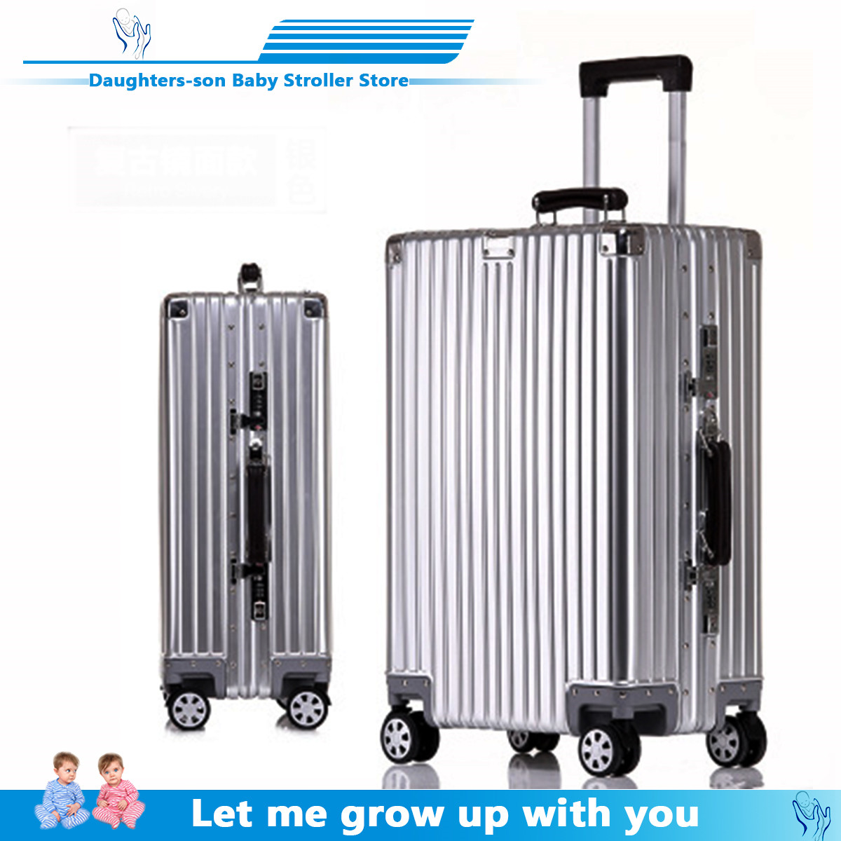 Cheap Aluminum Travel Suitcase 24