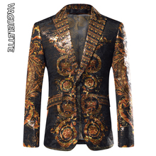 VAGUELETTE Black&Golden Mens Blazers Luxury Brand Italy Styl