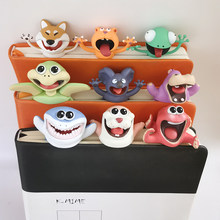 Lustige 3D Tier Stereo Lesezeichen als Lesen Schule Schreibwaren Geschenk Shark Panda Koala Buch Marker Distributor Preis