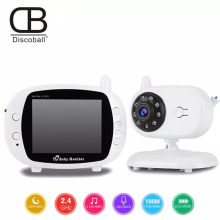 Baby Sleeping Monitor Color Video Wireless 3.5 inch 2.4GHz Security Nigh Vision LED Nanny with Camera
