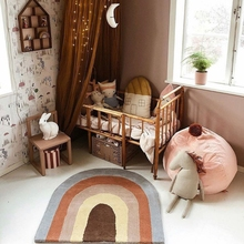 Baby Play Mat Crawling Carpet Kids Room Floor Rug Rainbow Game Pad Playmat Decor 53CE