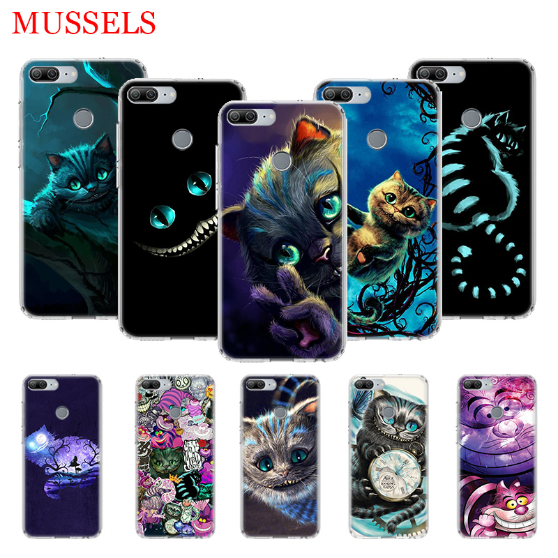 Alice in Wonderland <font><b>Cat</b></font> TPU Phone <font><b>Cases</b></font> for <font><b>Huawei</b></font> Honor 8X 20 9 10 Lite 8A 10i 20i 8S V20 Y5 Y6 <font><b>Y7</b></font> Y9 <font><b>2019</b></font> Coque Cover Capa image