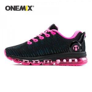 Image 1 - Женские беговые кроссовки ONEMIX, Женская легкая Светоотражающая сетчатая разноцветная уличная спортивная обувь для бега и прогулок