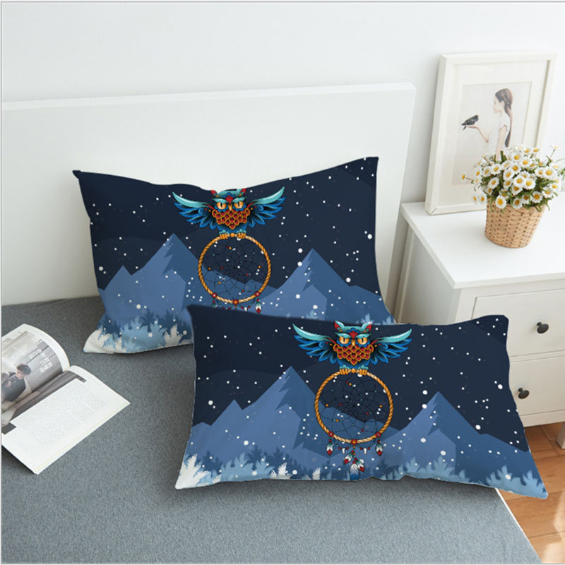1 Pair Printed Polyester <font><b>Pillow</b></font> <font><b>Case</b></font> For Bed Decorative <font><b>Pillow</b></font> Covers For Living Room Throw <font><b>Pillow</b></font> Cover 50x75cm <font><b>50x90cm</b></font> image