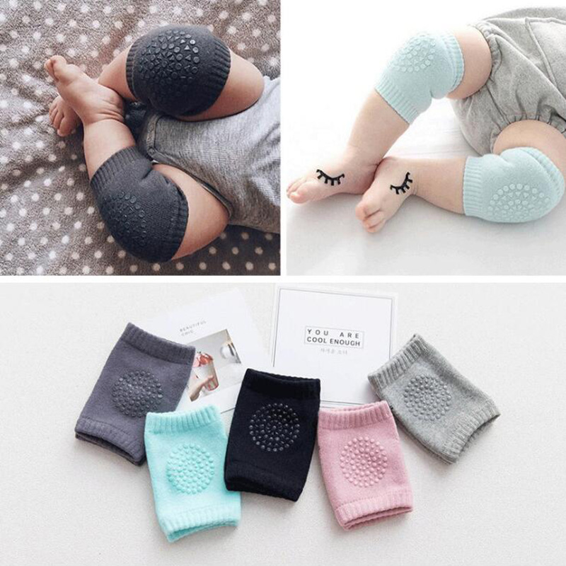 1 Pair Baby Knee Pads Non-slip Knee Pads Kids Safety Crawling Elbow Cushion Baby Toddler Kneecap Protection Baby Leg Warmer