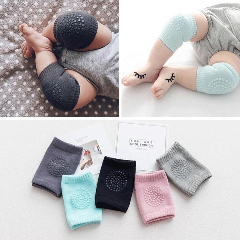 1 Pair Baby Knee Pads Non-slip Knee Pads Kids Safety Crawling Elbow Cushion Baby Toddler Kneecap Protection Baby Leg Warmer