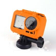 עבור DJI אוסמו פעולה מצלמה מסגרת שרוול עמיד למים ספורט מצלמה מקרה סיליקון מגן כיסוי עבור DJI אוסמו פעולה אבזרים