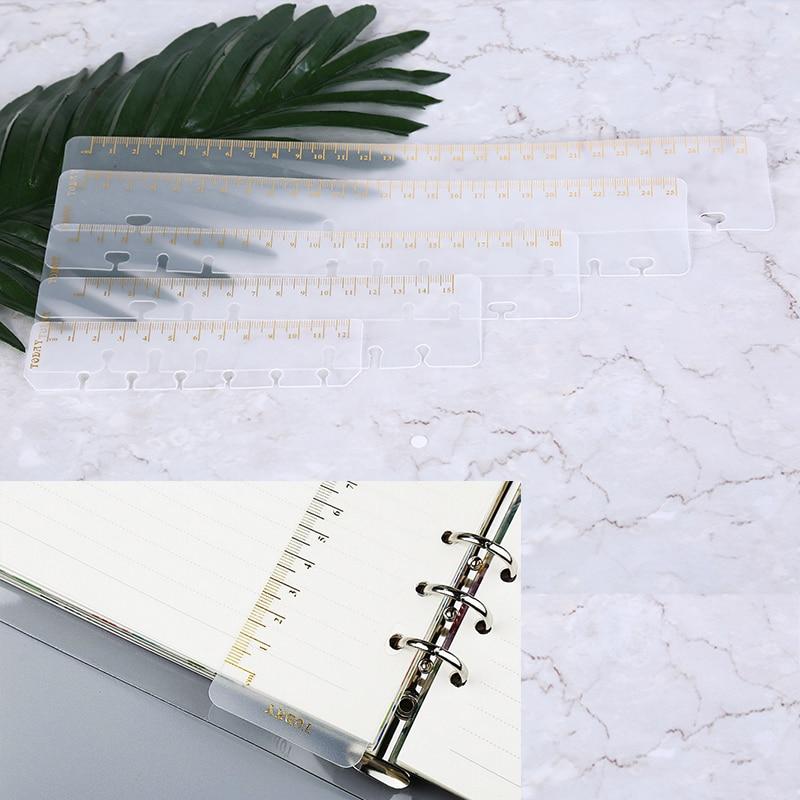 Ruler A5 A6 A7 Frosted Planner Agenda Dokibook For 6 Holes Loose Leaf Spiral Notebook Organizer  Sketchbook Bullet Accessories
