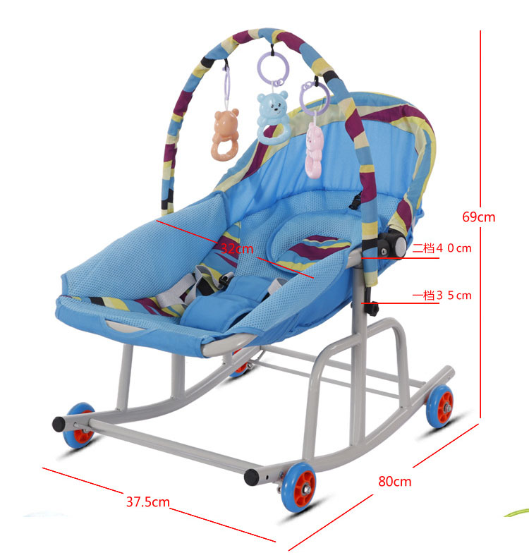 H7acb26ec055e457bb83809fe08f76591B Baby  Rocking Chair Music Nursery Child Toy Rocking Chair Baby Rocking Horse Infant Seat Bouncer Swing Cradle Recliner Bouncer