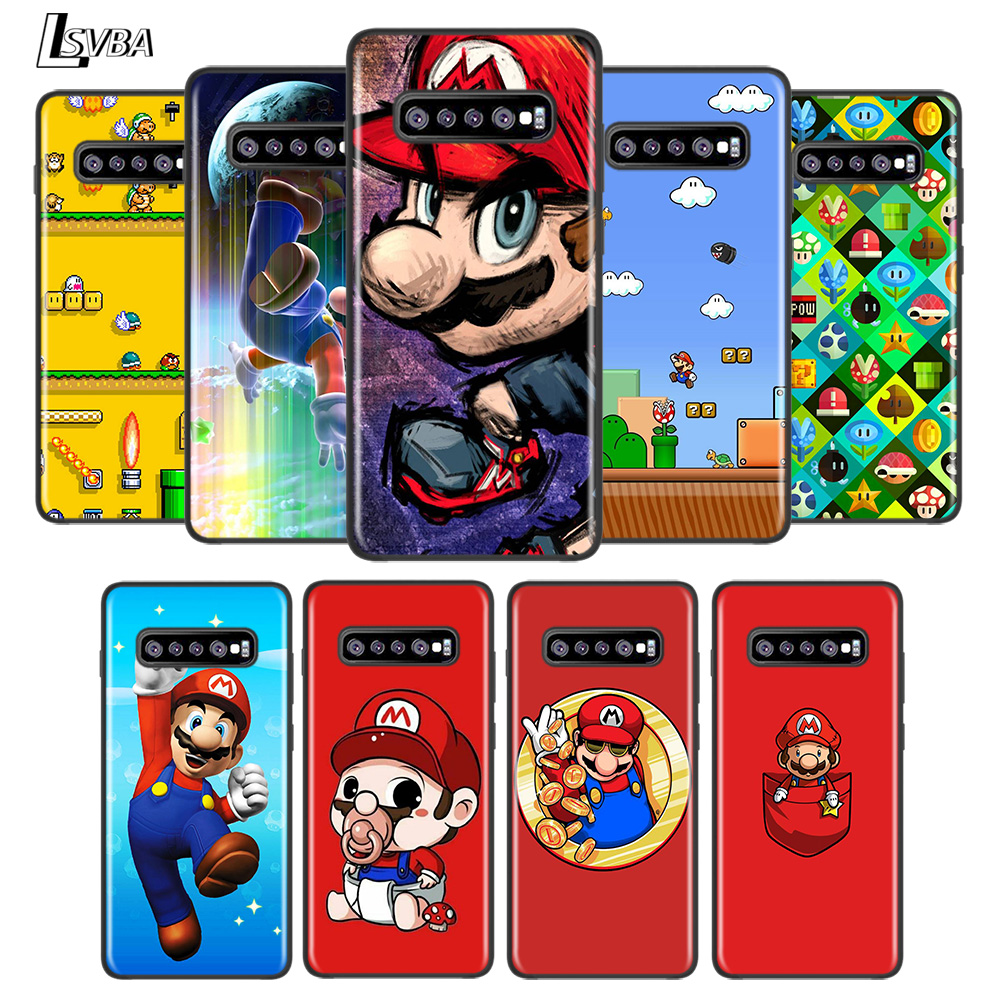 Cute Super Mary Game For Samsung Galaxy S21 S20 FE Ultra S10 Lite 5G S10E S9 S8 Plus S7 S6 Edge Phone Case