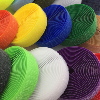 2cm 24m Pair hook and loop self adhesive tape velcro flexable wrap shoes clothes tape nylon sew on Snap Fastener