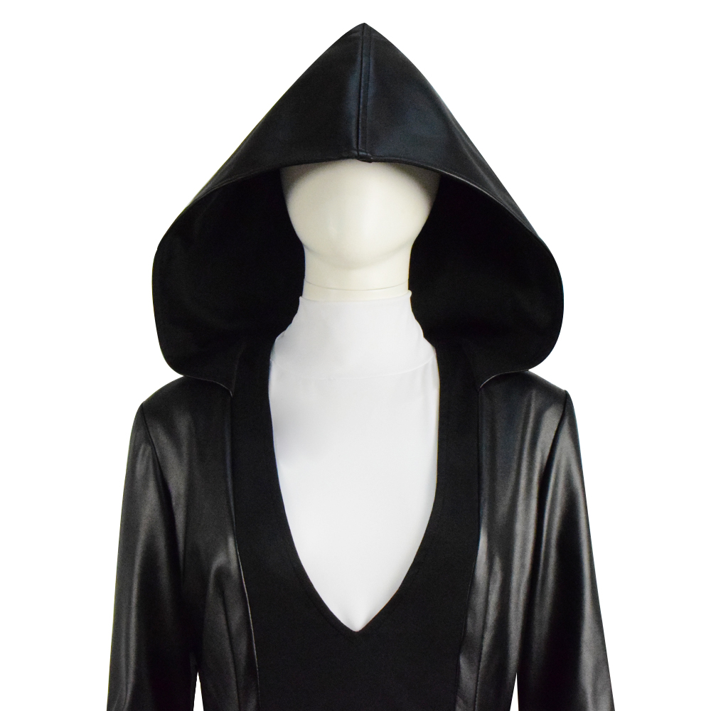 CosDaddy Angela Abar Black PU Jacket Full Set Women Cosplay Costume Outfit