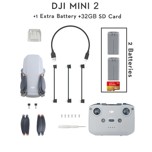 DJI Mavic Mini 2 2pcs batteries + 32GB SD Card