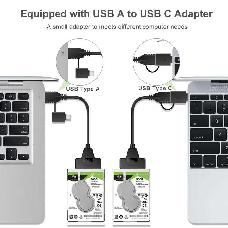 Vendita Diretta della fabbrica USB 3.0 a SATA 7 + 15 pin Cavo Adattatore Per 2.5 pollici HDD SSD di Alta Qualità A Basso Prezzo