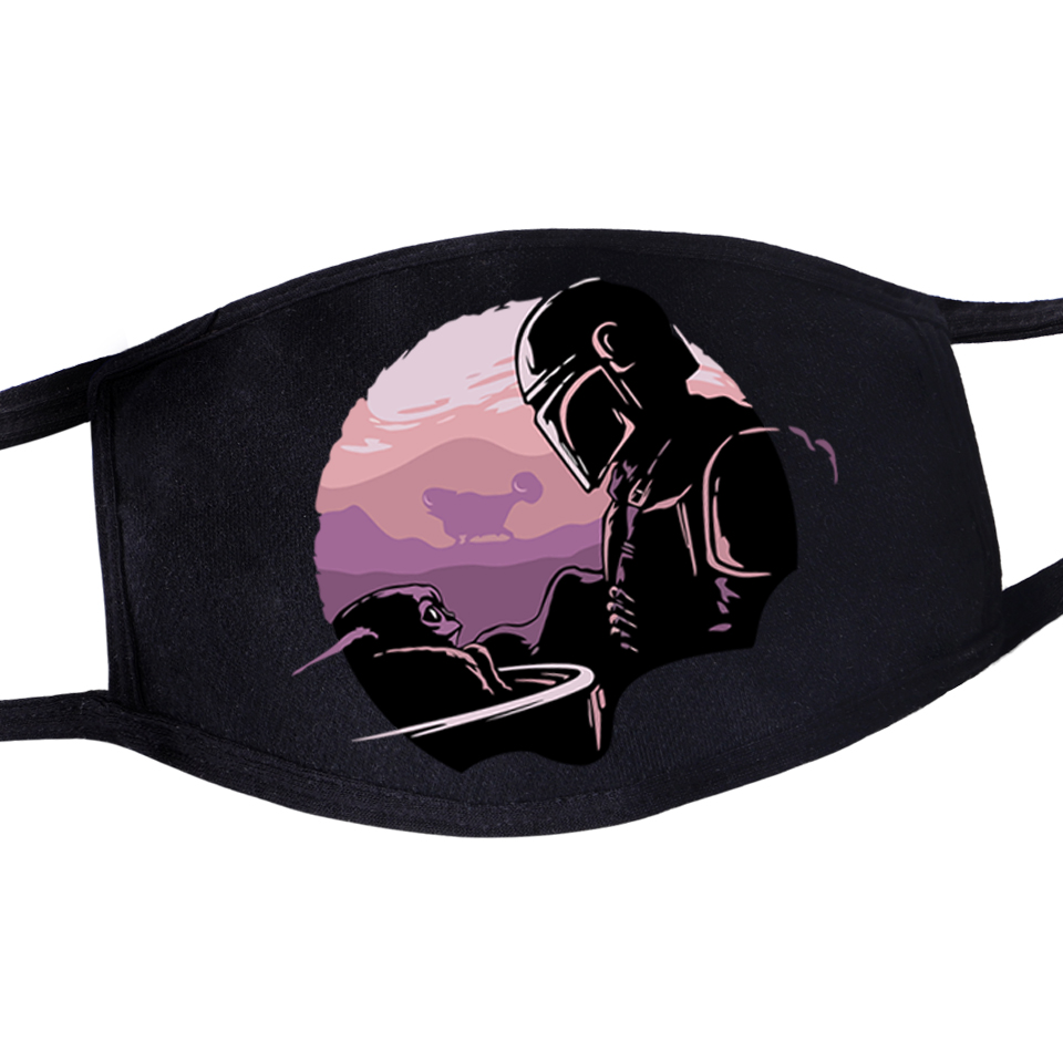 Anti Dust Mask Funny Cartoon Windproof Protective Mask Fashion Face Mask Star Wars Darth Vader Printed Unisex Reusable Washable