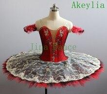 цена на Flower Fairy Romance La Esmeralda Professional Ballet Tutu Costume Girls Kids Ballerina Sugar Plum Fairy Tutu Red