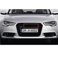 Emblema Logo Nero Lucido per A3 A4 A4L A6L TT Q3 Q5 Q7 A5 A7 RS3 RS4 RS5 RS6 Anteriore medio Anelli Grille Badge Tronco Sticker