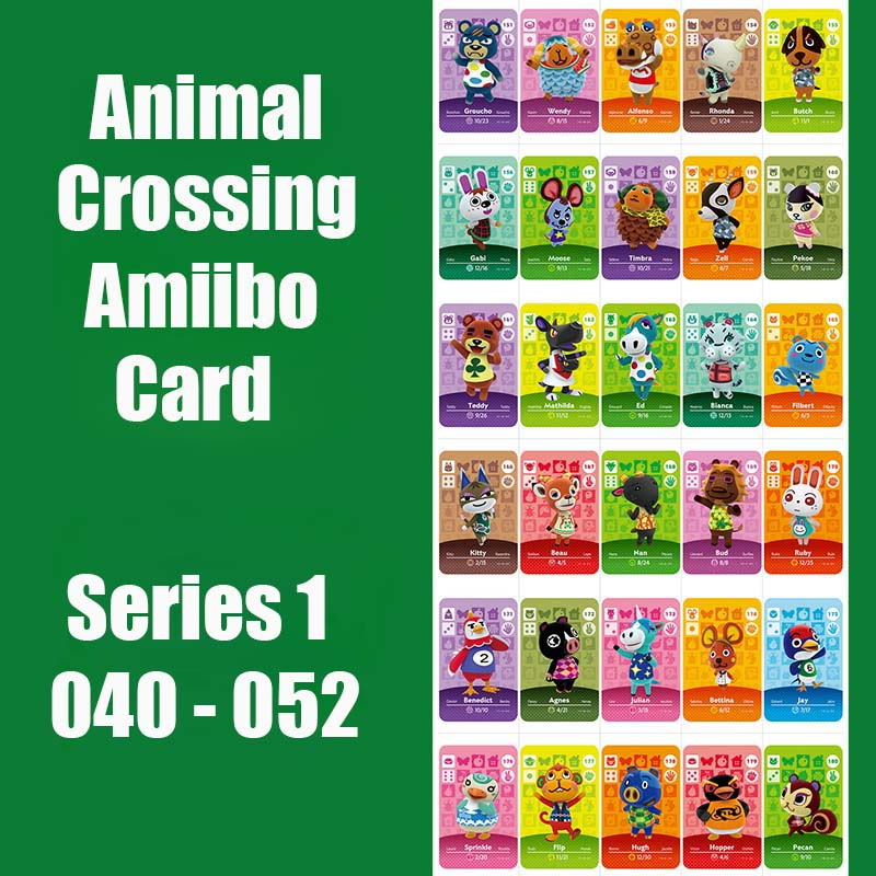 Series 1 (40 To 52) Animal Crossing Card Amiibo Card Locks NFC Card Work For Switch NS 3DS Games Original Functional Card