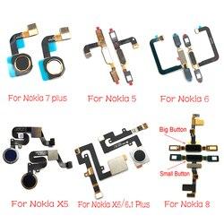 Przycisk Home linii papilarnych do Nokia 5 6 8 7 5.1 Plus 6.1X5X6 przewód elastyczny czujnika zamienne taśmy