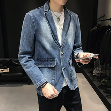Mens denim jacket 2019 autumn and winter new casual versatile youth personality fashion mens clothing