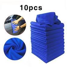 10 szt. Ręcznik z mikrofibry do czyszczenia samochodu motocykl do mycia szkła do czyszczenia gospodarstwa domowego mały ręcznik
