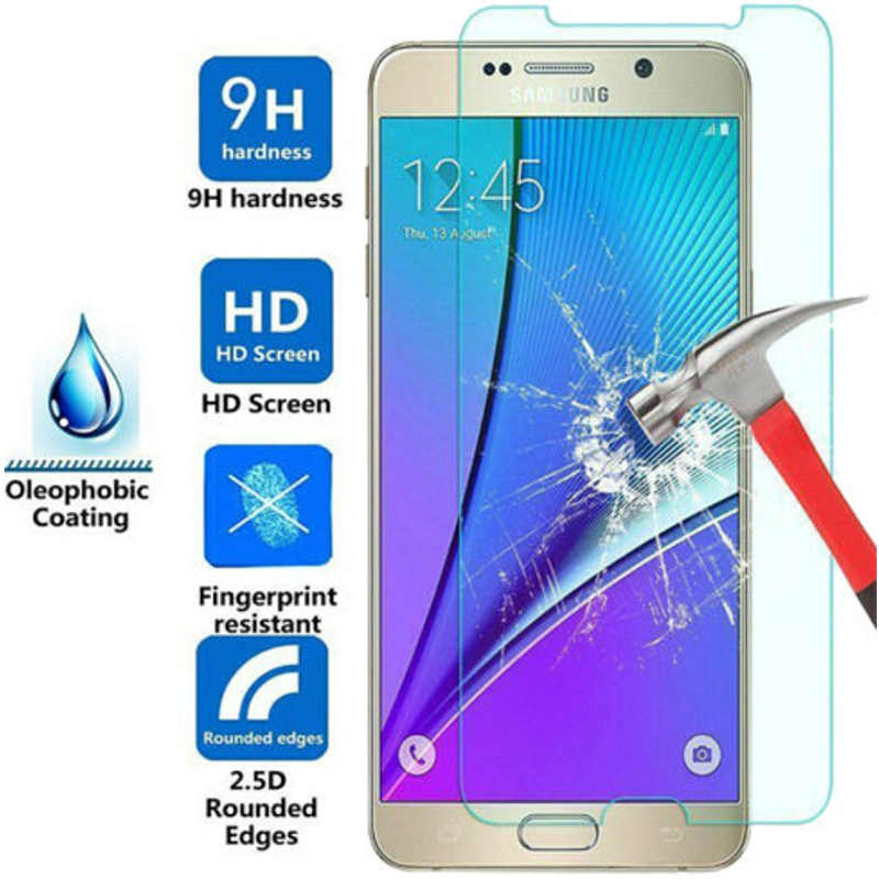 9H HD Toughed Kaca Pelindung untuk Samsung J7 2017 J5 2016 J3 2015 Screen Protector Pada Galaxy Grand Prime plus Tempered Glass