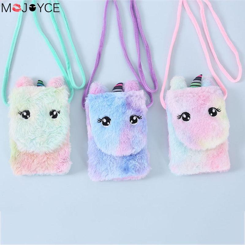 Girl New Fashion Cute Kids Bags Women Cartoon Shoulder Bag Handbag Plush Mini Wallet Satchel Crossbody Shoulder Bags Handbag