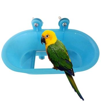 Oczko wodne wanna plastikowe oczko wodne akcesoria do kąpieli klatka dla ptaków kąpiel z lustrem dla papug papuga wanna z lustrem klatka dla zwierzęcia akcesoria tanie i dobre opinie CN (pochodzenie) Z tworzywa sztucznego 3 godziny