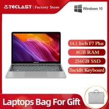 14.1 Inch Laptops Teclast F7 Plus Notebook Windows 10 1920 x 1080 Intel Gemini Lake N4100 Quad Core 1.1 GHz 8 GB RAM 256 GB SSD