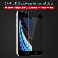 Dla iPhone SE 2020 szklany ekran dla iPhone 11 CP + Pro screen Protector NILLKIN 9H 3D dla iPhone 7/8/X/XS ochraniacz ze szkła hartowanego