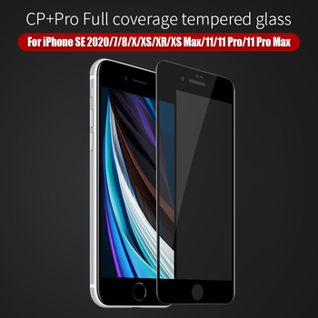 For iPhone SE 2020 glass screen for iPhone 11 CP+Pro Screen Protector NILLKIN 9H 3D For iPhone 7/8/X/XS Tempered Glass Protector